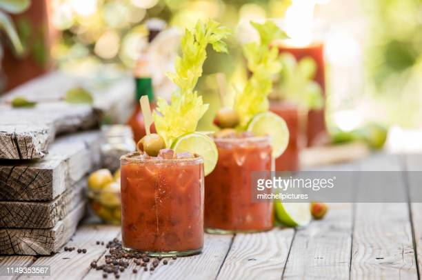 bloody mary's - bloody mary stock photos and pictures