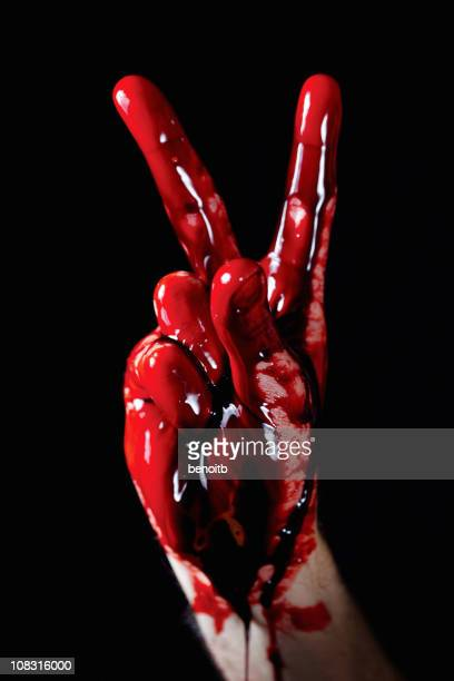 bloody peace - bloody gore stock pictures, royalty-free photos & images