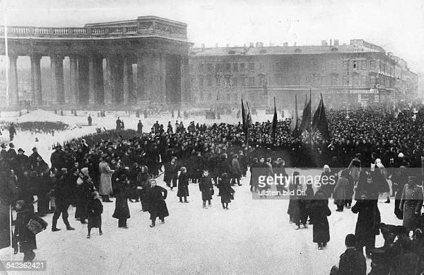 Bloody Sunday Demonstration on the Newskij Prospect in St Petersburg 1905 photo Valerian Gribayedoff
