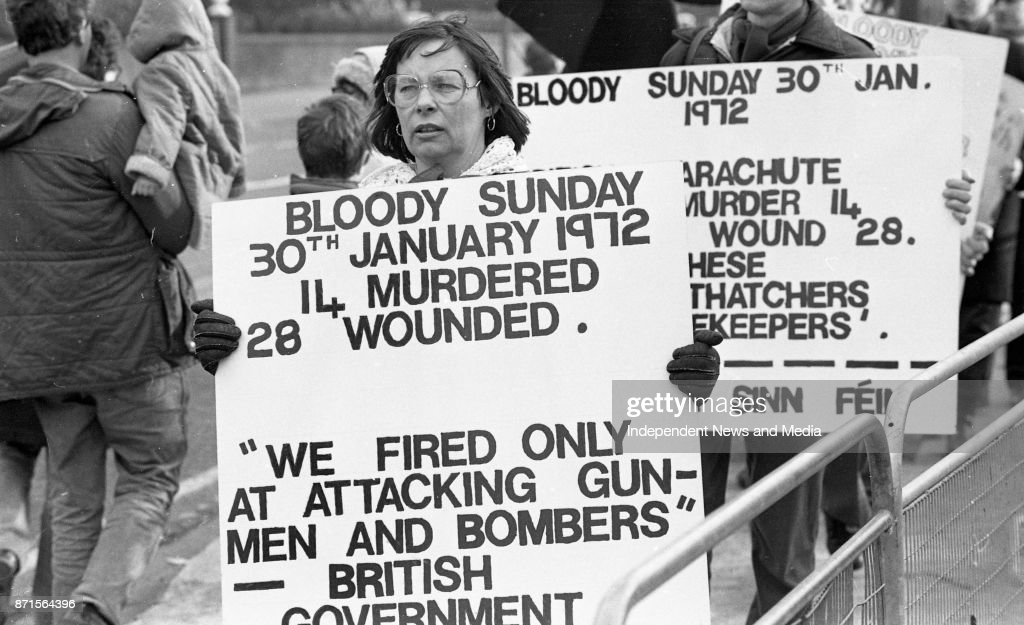 Bloody Sunday Protest March In Dublin : News Photo