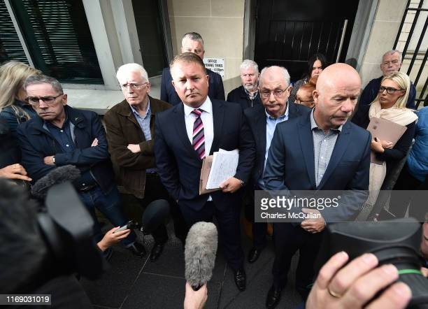 Bloody Sunday victim's family members and their legal team give their response to today's adjournment outside Derry Courthouse as the first listing...
