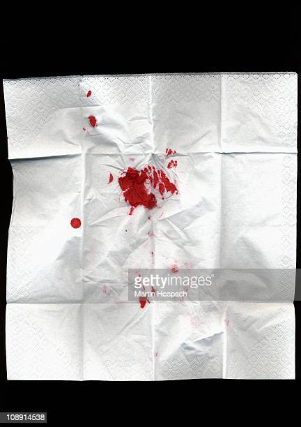 A bloody tissue
