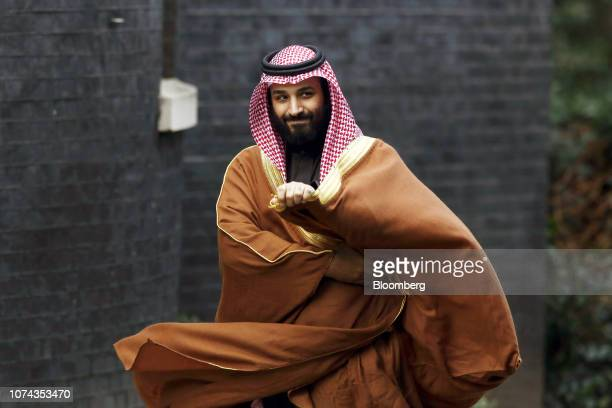Bloomberg Best of the Year 2018: Mohammed bin Salman, Saudi Arabia's crown prince, arrives to meet Theresa May, U.K. Prime minister, at number 10...