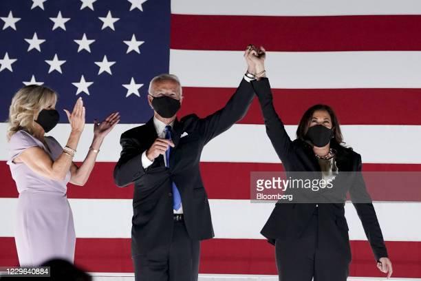 Bloomberg Best of the Year 2020: Former Vice President Joe Biden, Democratic presidential nominee, second left, and Senator Kamala Harris, Democratic...
