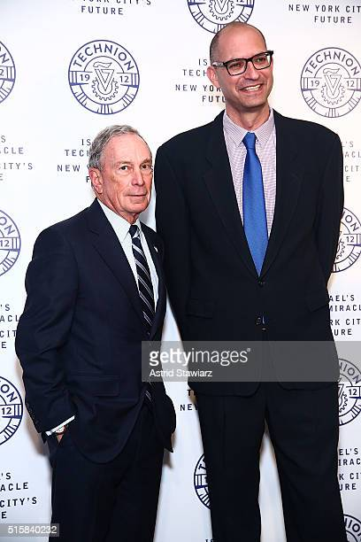 Bloomberg LP founder Michael Bloomberg and Mor Naaman attend 2016 Technion Benefit Gala at The Plaza Hotel on March 15 2016 in New York City