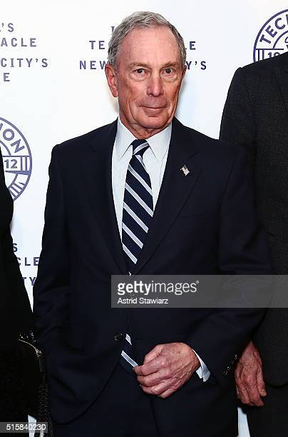 Bloomberg LP founder Michael Bloomberg attends 2016 Technion Benefit Gala at The Plaza Hotel on March 15 2016 in New York City