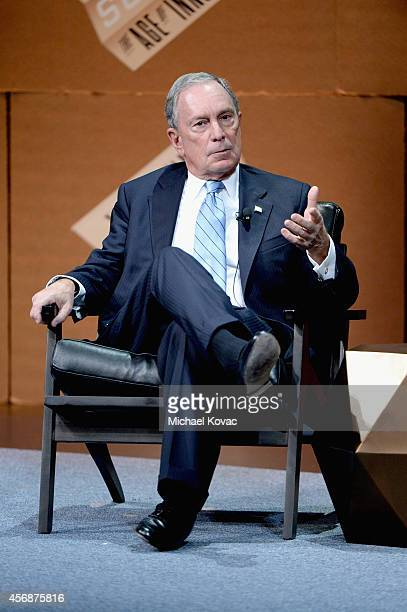 Bloomberg LP Founder Michael Bloomberg speaks onstage during 'Disrupting Information and Communication' at the Vanity Fair New Establishment Summit...