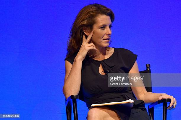Bloomberg Television Anchor Stephanie Ruhle speaks onstage at the DIALOG SPORTS IT'S ANYONE'S GAME panel during Advertising Week 2015 AWXII at the...
