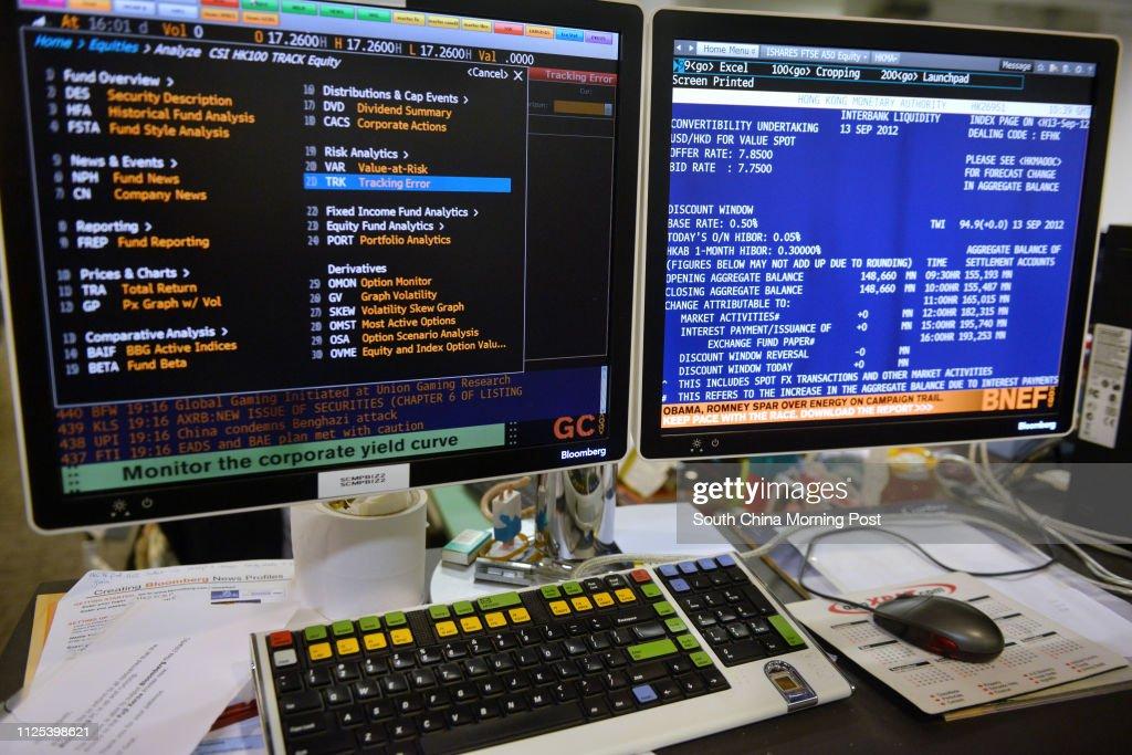 A Bloomberg Terminal. 13SEP12 : Foto di attualità