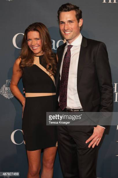 Bloomberg TV anchor Trish Regan and her guest attend The Hill's and Entertainment Tonight's celebration of the 100th White House Correspondents'...