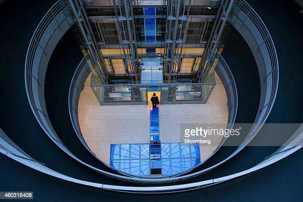 Bloomberg's Best Photos 2014 A visitor enters an elevator in the lobby at the headquarters of SAP AG in Walldorf Germany on Monday Feb 24 2014 SAP AG...