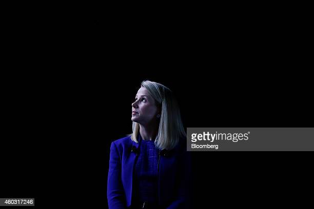 Bloomberg's Best Photos 2014 Marissa Mayer chief executive officer of Yahoo Inc looks on at the Cannes Lions International Festival Of Creativity in...