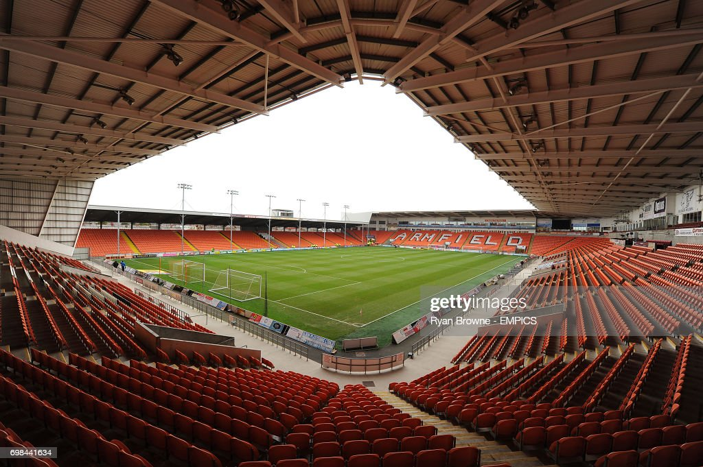 Bloomfield Road Stadium prior to the Blackpool v Birmingham City match