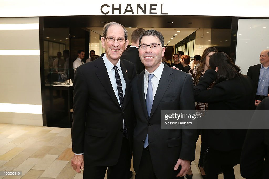 Bloomingdale's CEO Michael Gould (L) and Bloomingdale's President Tony Spring attend Bloomingdale's celebration of the newly renovated Chanel RTW Boutique at Bloomingdale's 59th Street Store on January 24, 2013 in New York City.