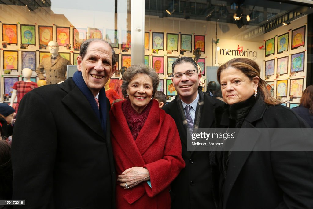 Bloomingdale's CEO Michael Gould, Mentoring USA Founder Matilda Cuomo, Bloomingdale's President Tony Spring and Bloomingdale's SVP Public Relations Anne Keating attend Bloomingdale's 59th St. and Mentoring USA's celebration of National Mentoring Month on January 9, 2013 in New York City.
