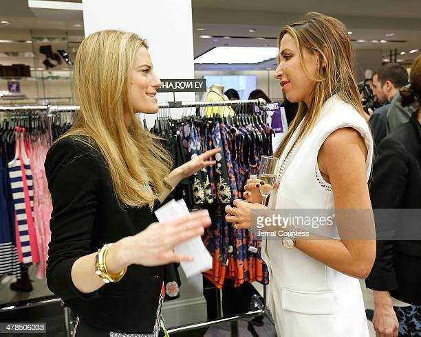 Bloomingdale's Fashion Director Brooke Jaffe and designer Ronny Kobo speak during The Collective Launch Event at Bloomingdale's 59th Street Store on...