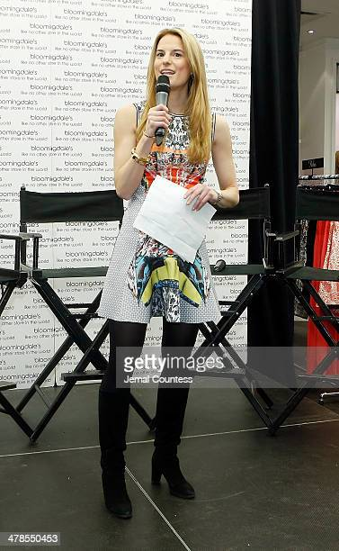 Bloomingdales Fashion Director Brooke Jaffe speaks during The Collective Launch Event at Bloomingdale's 59th Street Store on March 13 2014 in New...