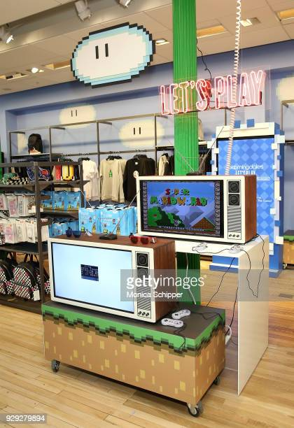 Bloomingdale's launches an exclusive collection with Nintendo on March 8 2018 in New York City