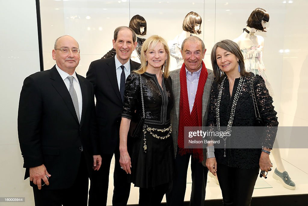 Bloomingdale's Vice Chairman/GMM RTW Frank Doroff, Bloomingdale's CEO Michael Gould, Chanel EVP Barbara Cirkva, John Schumacher and Brooke Garber Neidich attend Bloomingdale's celebration of the newly renovated Chanel RTW Boutique at Bloomingdale's 59th Street Store on January 24, 2013 in New York City.