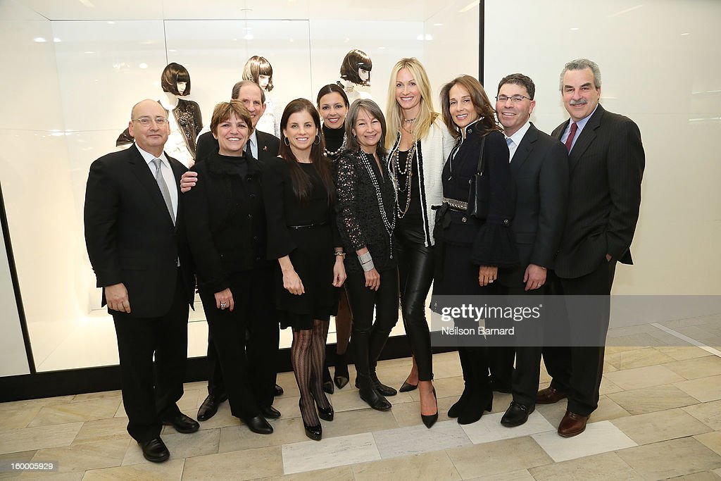 Bloomingdale's Vice Chairman/GMM RTW Frank Doroff, Bloomingdale's EVP/GMM Cosmetics, Fashion Accessories, and Fine Jewelry Francine Klein, Bloomingdale's CEO Michael Gould, Lori Hall, Debra Perelman, Brooke Garber Neidich, Christine Mack, Marcia Mishaan, Bloomingdale's President Tony Spring and Dr. Koplewicz attend Bloomingdale's celebration of the newly renovated Chanel RTW Boutique at Bloomingdale's 59th Street Store on January 24, 2013 in New York City.