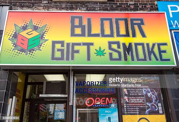 Bloor Gift Smoke Dipensary Sign in Bloor Street The city is in the middle of controversial legal issues regarding pot legalization