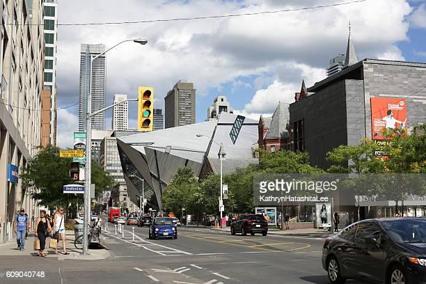 Bloor Street, Bay Street Corridor, Toronto, Canada in Summer
