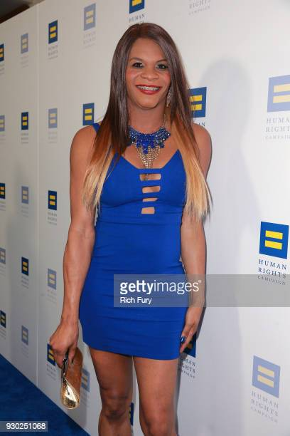 Blossom Brown attends The Human Rights Campaign 2018 Los Angeles Gala Dinner at JW Marriott Los Angeles at LA LIVE on March 10 2018 in Los Angeles...