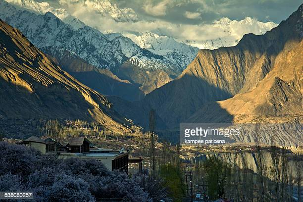 blossom in pakistan - hunza valley stock pictures, royalty-free photos & images
