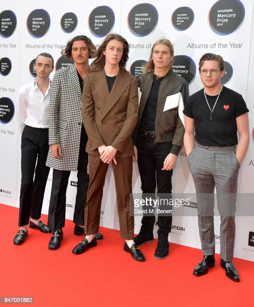 Blossoms arrives at the Hyundai Mercury Prize 2017 at Eventim Apollo on September 14 2017 in London England