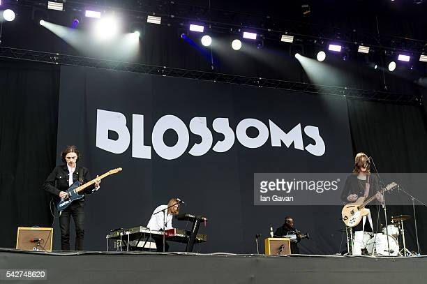 'Blossoms' perform on the Other Stage at the Glastonbury Festival at Worthy Farm Pilton on June 24 2016 in Glastonbury England Now its 46th year the...