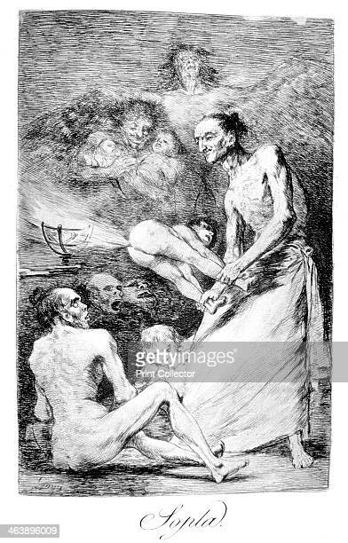 'Blow' 1799 Plate 69 of 'Los caprichos' Los Caprichos were published in 1799 at a time of social repression and economic crisis in Spain The series...