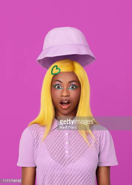 blow your hat off - surprise - チューリップ帽 ストックフォトと画像