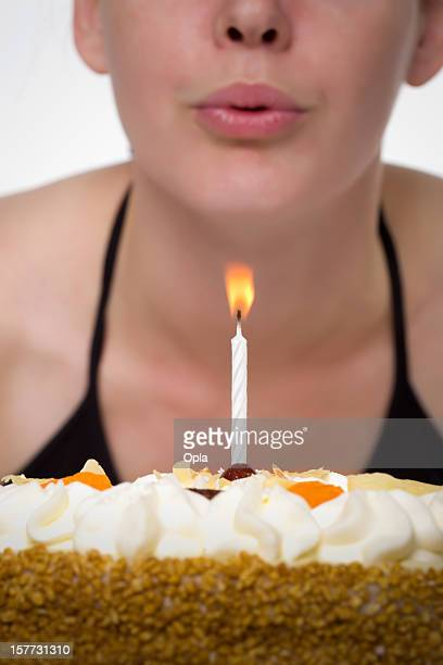 Blowing a candle