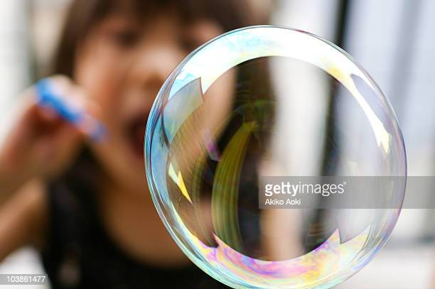 blowing bubble