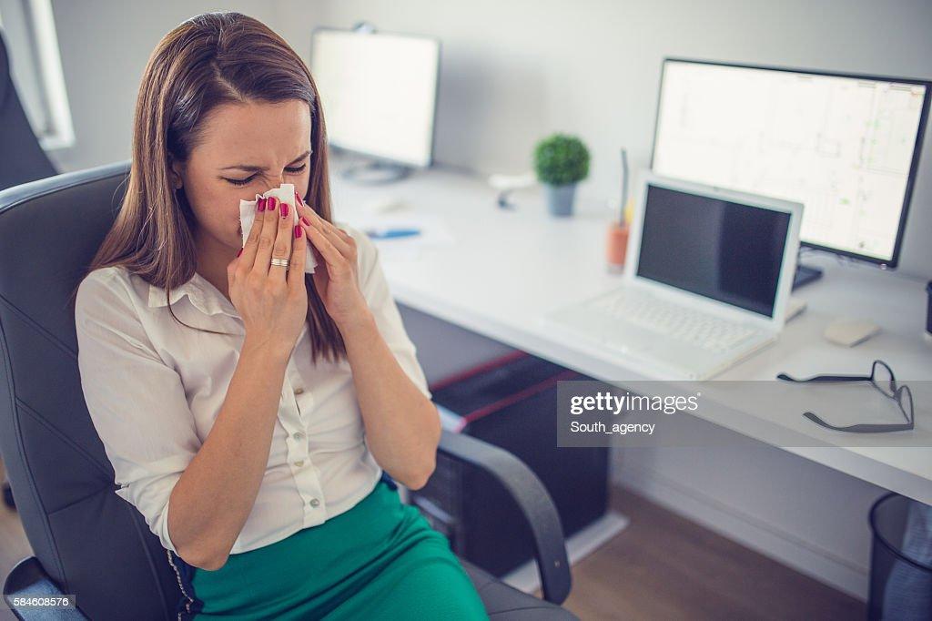 Ihre Nase weht  : Stock-Foto