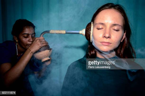 Blowing Medicinal Steam in Ear