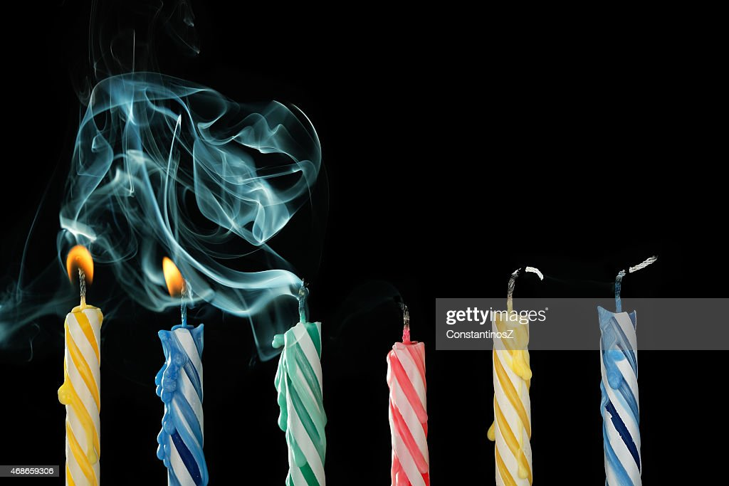 blown out candles : Stock Photo
