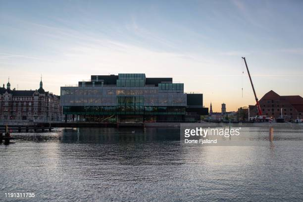 blox, danish architecture center from across the harbour - dorte fjalland stock pictures, royalty-free photos & images