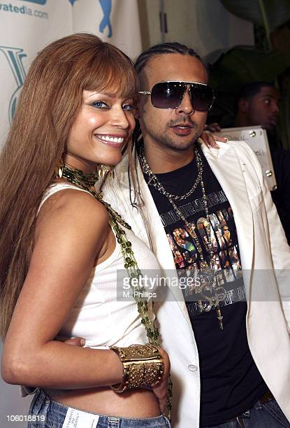 Blu Cantrell and Sean Paul during Fonzworth Bentley Party at the Cabana Club in Hollywood - August 20, 2006 at Cabana Club in Hollywood, CA, United...
