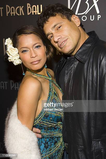 Blu Cantrell and Steve Bauer during Rat Pack Ball - December 12, 2006 at Priviledge in Hollywood, California, United States.