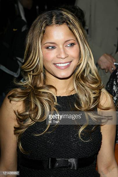Blu Cantrell backstage at Monarchy Collection Fall 2007