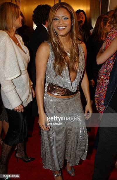 Blu Cantrell during 2002 VH1 Vogue Fashion Awards - Arrivals at Radio City Music Hall in New York City, New York, United States.