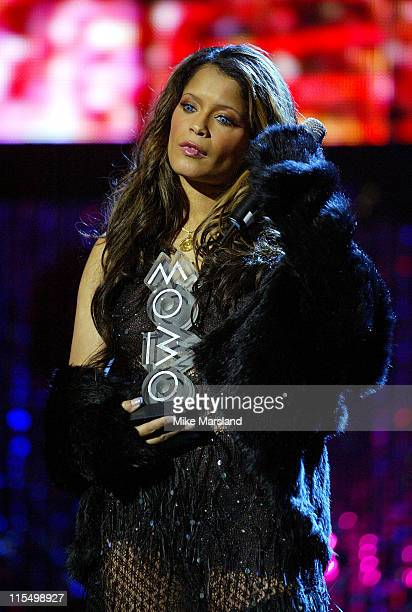 Blu Cantrell during 2003 MOBO Awards - Rehearsals at Royal Albert Hall in London, United Kingdom.