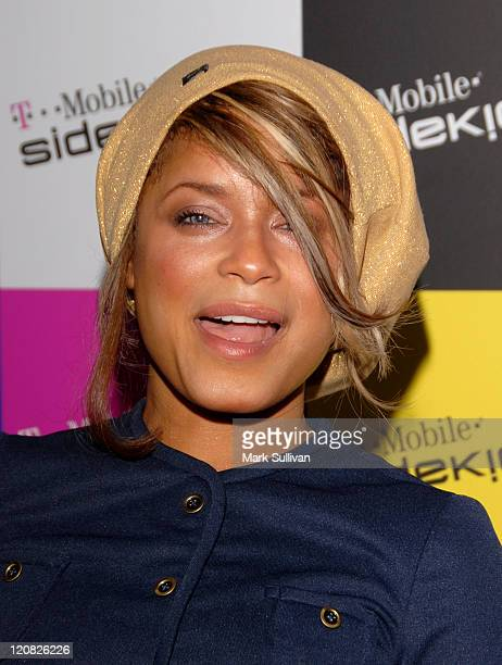 Blu Cantrell during T-Mobile SIDEKICK iD Launch at T-Mobile Sidekick Lot in Hollywood, California, United States.