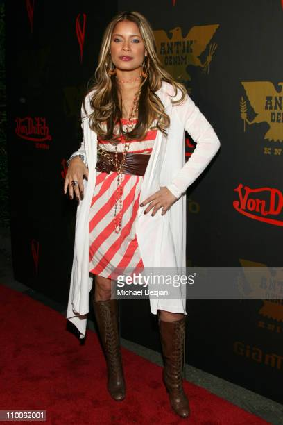 Blu Cantrell during Tricia Helfer of Battlestar Galcatica Party to Celebrate the Release of the February Issue of Playboy at Les Deux in Los Angeles,...