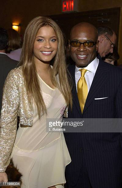 Blu Cantrell with Antonio 'LA' Reid during Arista Records CoSponsors Benefit for PENCIL featuring Avril Lavigne and Blu Cantrell at Hammerstein...