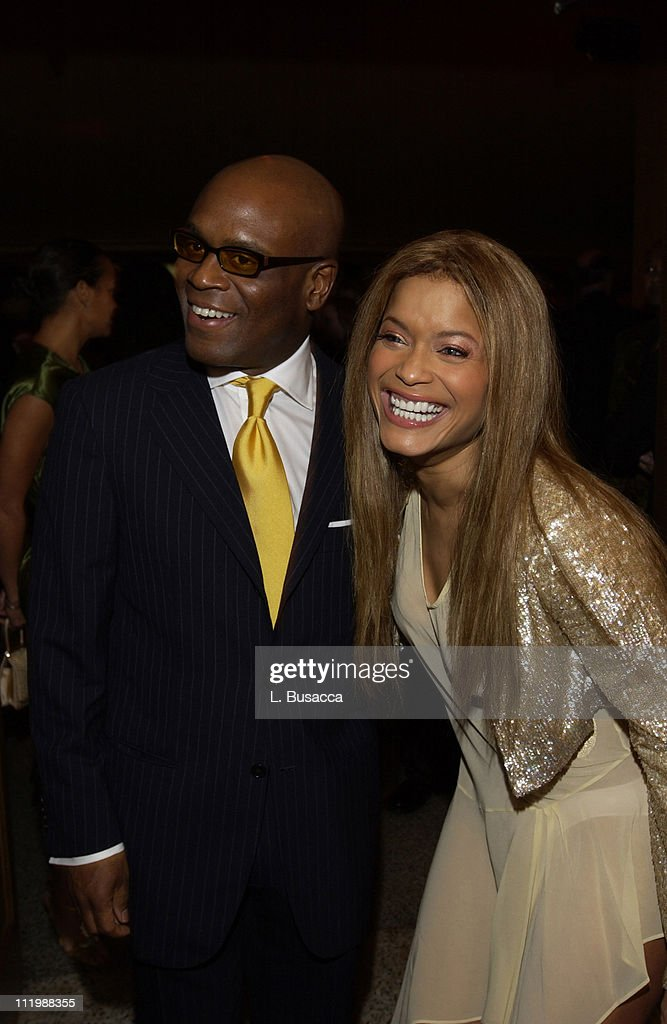 Blu Cantrell with Antonio 'LA' Reid during Arista Records Co-Sponsors Benefit for PENCIL featuring Avril Lavigne and Blu Cantrell at Hammerstein Ballroom in New York City, New York, United States.