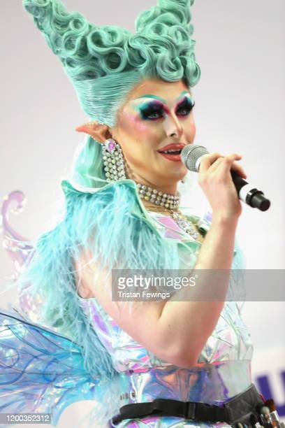 Blu Hydrangea at RuPaul's DragCon UK presented by World Of Wonder at Olympia London on January 18, 2020 in London, England.