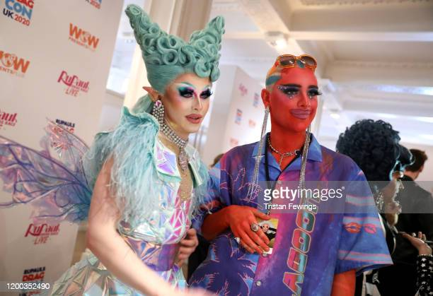 Blu Hydrangea attends RuPaul's DragCon UK presented by World Of Wonder at Olympia London on January 18, 2020 in London, England.
