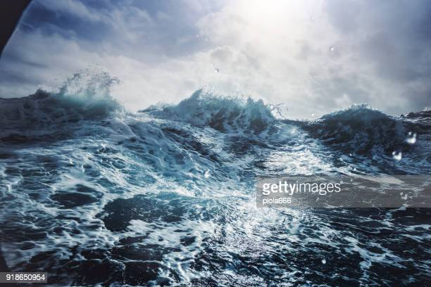 blu rough sea - wave stock pictures, royalty-free photos & images